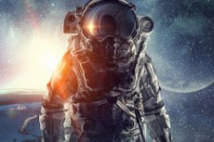 Аватарка Космонавт и красивый вид