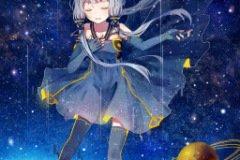Крутая аватарка анимэ девушки в космосе