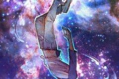 Анимэ парень летит в космосе