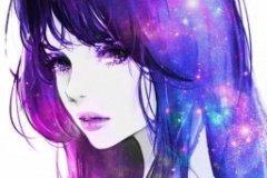 Красивая аватарка космической девушки