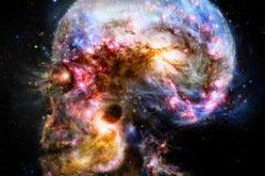 Аватарка космос и череп