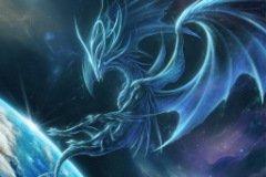 Аватарка дракон в космосе