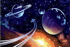 Картина по номерам космос