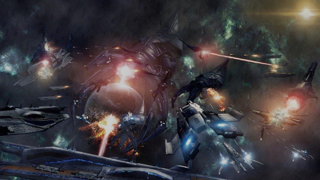 MassEffect космический бой