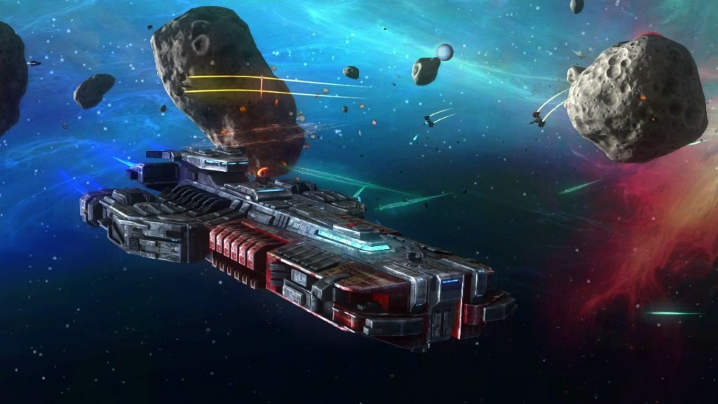 rebel galaxy корабль в космосе