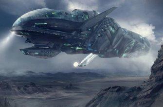 Космос и инопланетный корабль
