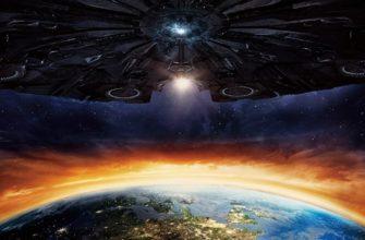 Фантастический космический корабль пришельцев