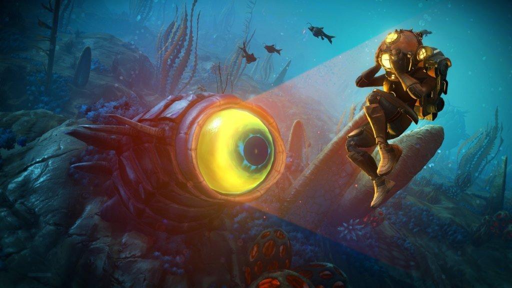Обновление с подводным миров в No Mans Sky