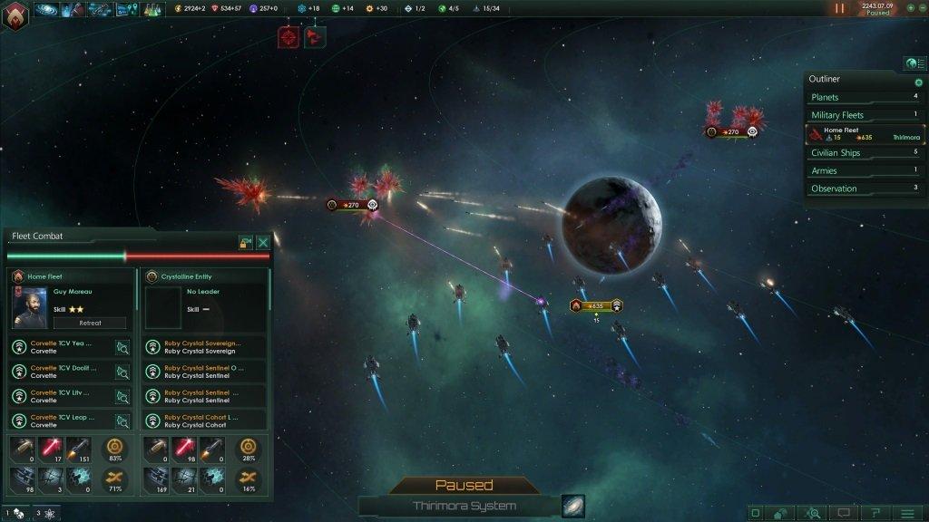Stellaris флот атакует