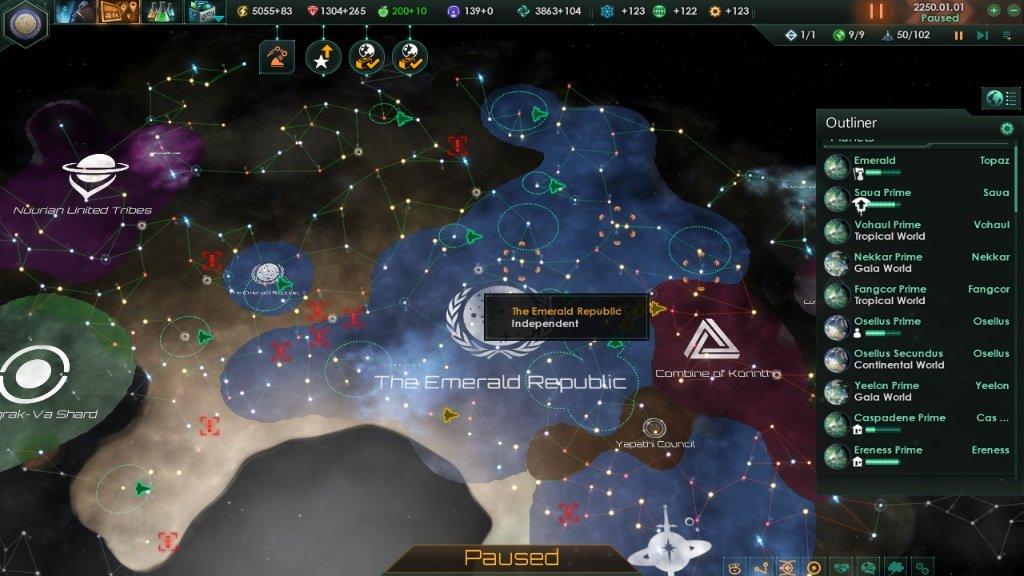 Stellaris карта галактики