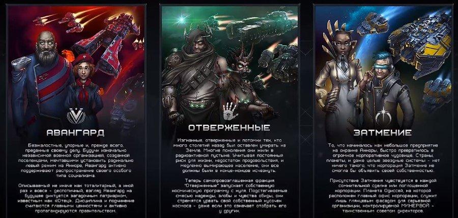 Starfall Online фракции