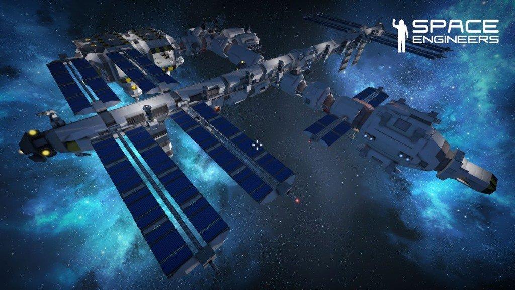 Space Engineers станция в космосе