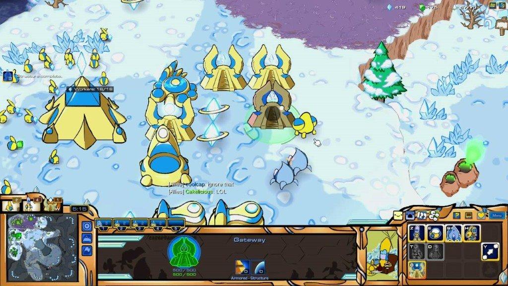 Скриншот в игре Starcraft в модификации Carbot