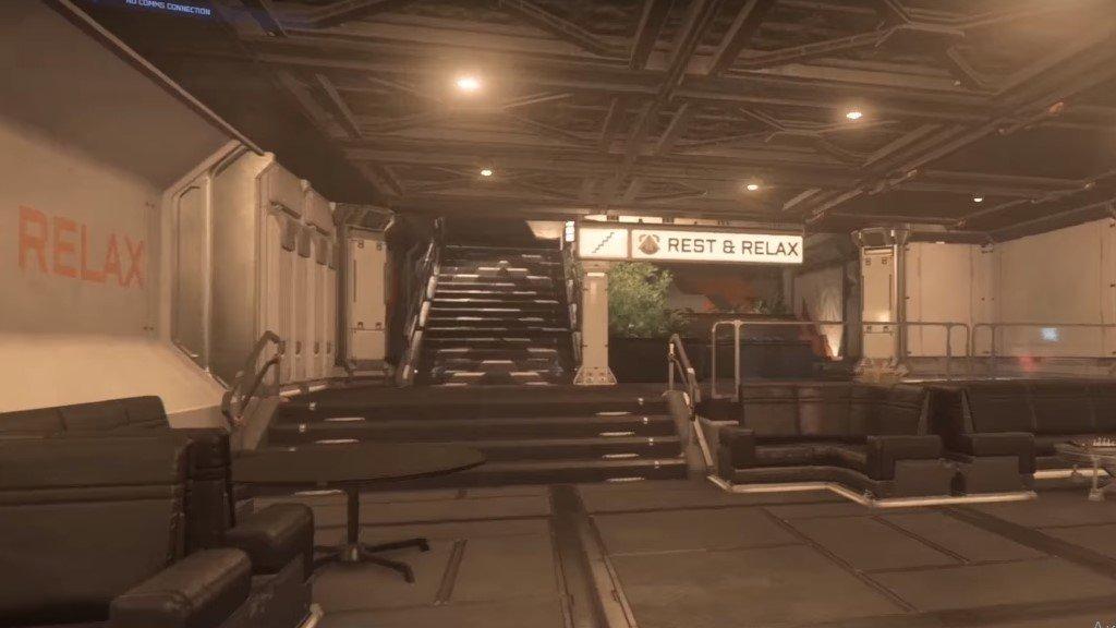 интерьер внутренней части станции Star Citizen