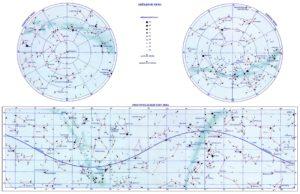 Карта звездного неба для печати