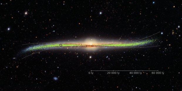 Фронтальный вид галактики