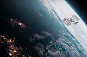 Станция с кораблем на орбите земли