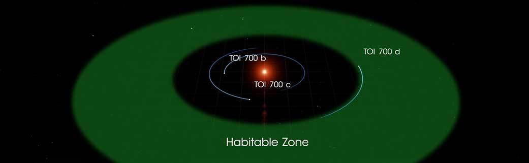 TOI700 система с планетой похожей на землю
