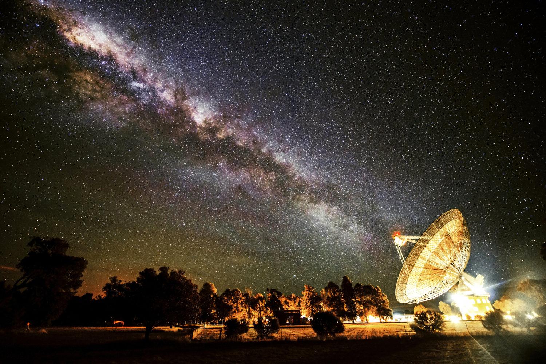 Млечный путь вид с Земли