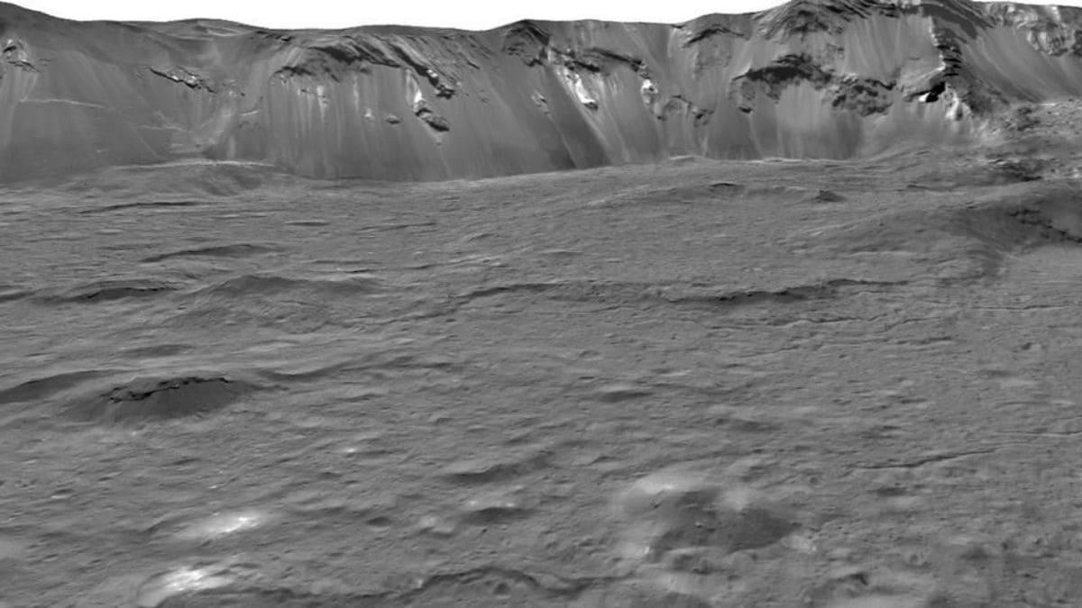 Фото поверхности Цереры