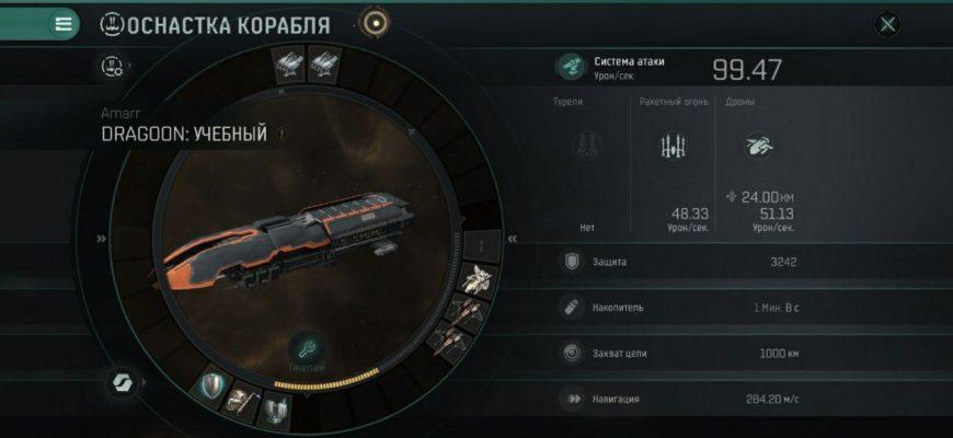 Оснастка корабля в EVE echoes (fitting)