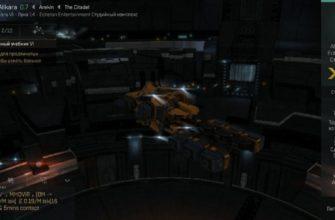 Промышленный корабль Venture в ангаре EVE echoes