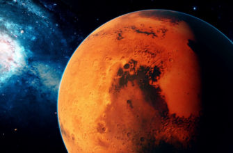 снимок Марса из космоса